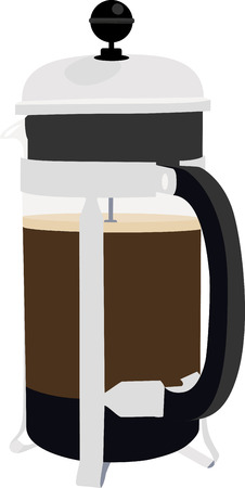 Use this French press for a barista's shirt or apron.