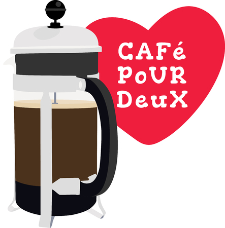 Use this French press for a baristas shirt or apron.