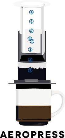baristas: Use this Aeropress for a baristas shirt or apron.