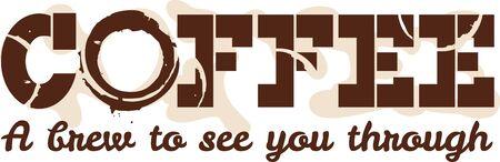 baristas: Use this coffee design for a baristas shirt or apron. Illustration