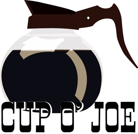 Use this coffee pot for a baristas shirt or apron.