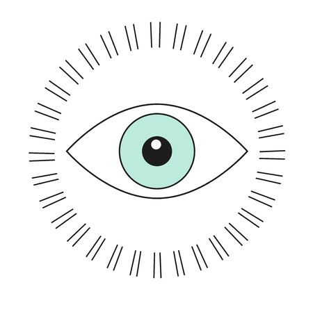 Use this eyeball on a shirt for a conspiracy theorist friend.