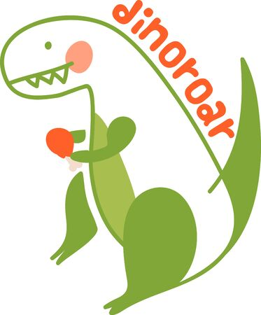 The Jurassic rules in this design!  Perfect for a bib, shirt or more for every dino-loving kid who wants to be surrounded by his pre-historic pals!
