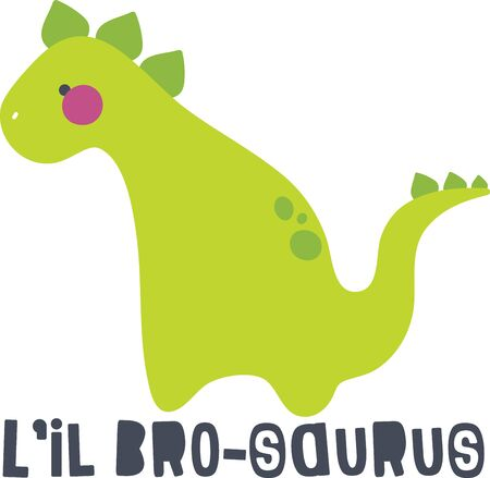 pals: The Jurassic rules in this design!  Perfect for a bib, shirt or more for every dino-loving kid who wants to be surrounded by his pre-historic pals!