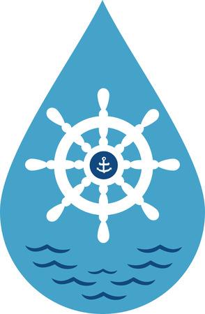 Un design parfait pour votre marin, plaisancier ou un amant de toutes choses broder nautique sur les vêtements, serviettes, sacs d 'équipement, t-shirts, vestes ou des tentures murales. Banque d'images - 42924782