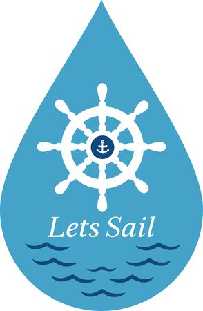 water s: A perfect design for your sailor, boater or lover of all things nautical embroider on clothes, towels,  gear bags,  t-shirts, jackets or wall hangings.
