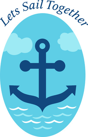 boater: A perfect design for your sailor, boater or lover of all things nautical embroider on clothes, towels,  gear bags,  t-shirts, jackets or wall hangings.