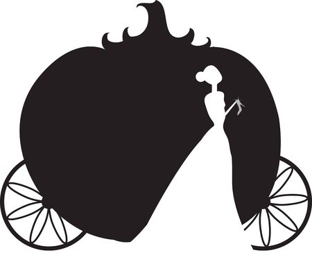 Verwenden Cinderellas Kutsche auf einem Hemd für eine kleine Prinzessin. Standard-Bild - 42925165