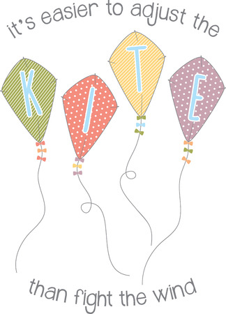 Use these kites on a childs summer shirt. Иллюстрация