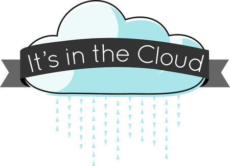 Use this cloud in a sky scene or for a funny computer shirt.