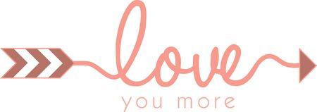 Use this love arrow for a romantic shirt. Фото со стока - 42925198