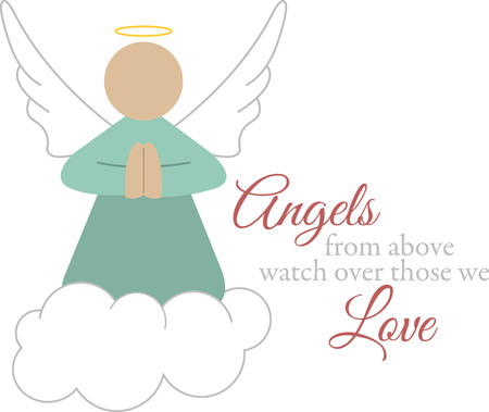 Use this guardian angel on a friends shirt. Ilustrace