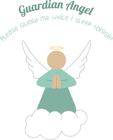 Use this guardian angel on a friends shirt. Illustration