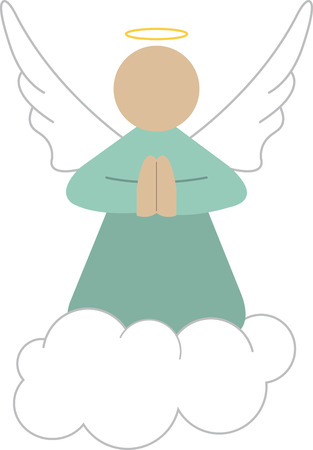 Use this guardian angel on a friends shirt. Ilustracja