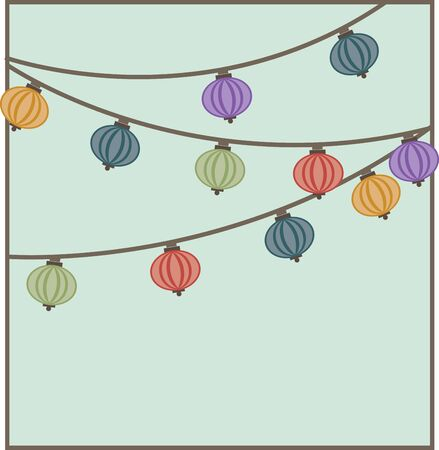 Use this Chinese lantern square on a holiday shirt.