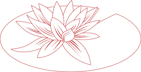 This lily pad flower outline is perfect to add to a shirt to enjoy your summer with this design by Embroidery patterns