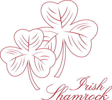 three leaved: Friends are like three leaved Clovers. Hard to find but lucky to have!. Wish your friends and family a happy St.Patricks day with this design by Embroidery patterns. Vectores