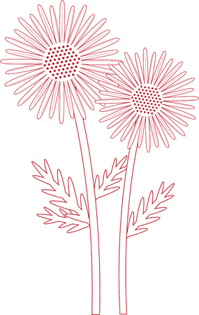 shasta daisy: Capture the exotic beauty of Daisy flowers with this design by Embroidery patterns!