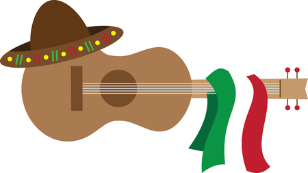 spanish guitar: Get the Spanish guitar and make your favorite music. Pick those designs by embroidery patterns for your next fiesta.