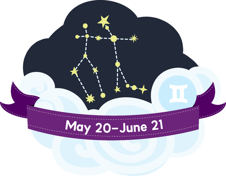 fairly: Gemini Constellation is fairly easy to spot in the sky Illustration