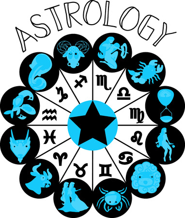 Zodiac signs allow us to know our future better. This is the perfect to show everyone your astrological sign. Ilustração
