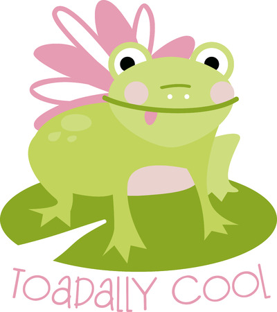 lily pad: Jumping Jack, thats mr. Happy frog as hes known for jumping in joy! Illustration