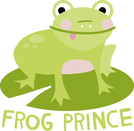 Jumping Jack, thats mr. Happy frog as hes known for jumping in joy! Illustration