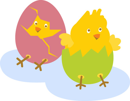 Chicks are just hatched to wish you a very happy Easter. Watch the beginning of a new life with this design by Embroidery patterns!