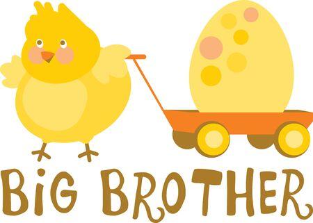 Chicks wünschen Ihnen ein frohes Osterfest. Feiern Sie Ostern Tag mit diesem Entwurf durch Stickmuster! Standard-Bild - 42927799