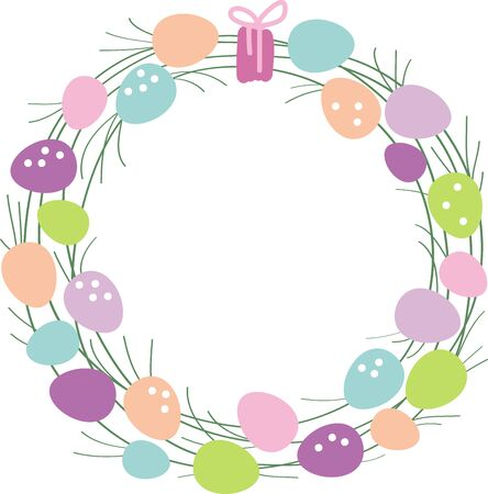 decorative items: Easter Egg Wreaths are ideal decorative items for any season, provided theyre made to reflect the holiday or seasonal occasion.
