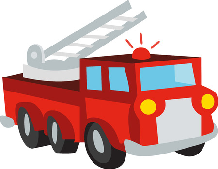 pick this colorful fire truck design by embroidery patterns. Perfect on a shirt for a child.