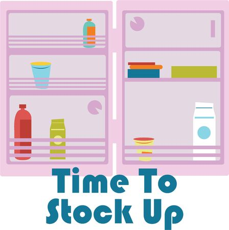 icebox: Grab this fun refrigerator image for your next design.