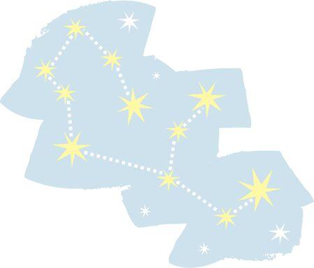 Use this Virgo constellation for a superstitious friends shirt or bag. Ilustração