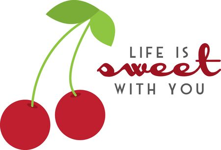 drupe: Create a splendid look for summer with these sweet cherries on place mats and linens!