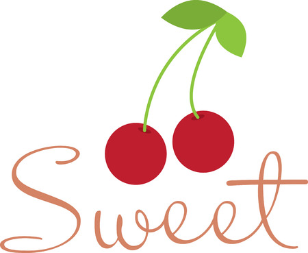 Create a splendid look for summer with these sweet cherries on place mats and linens!