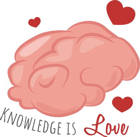 book bag: Share your love for knowledge with this smart brain on a book bag.