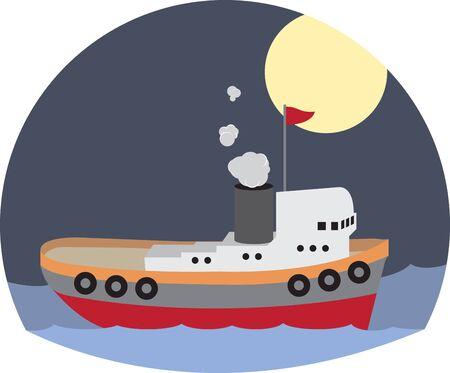 예인선 잡아 당김은 배를 밀거나 견인하여 배를 움직이는 보트입니다.