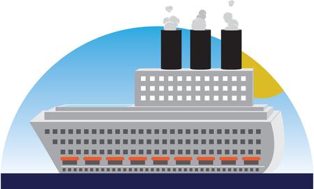 私たちの贅沢の 1 つは、クルーズ船や洗練されたと luxuus の旅をお楽しみください。  イラスト・ベクター素材