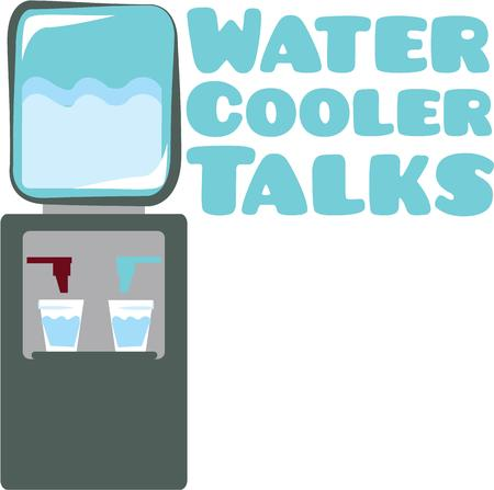 water cooler: Use this water cooler for a sweatshirt and sweatpants set.