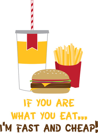 Enjoy the simple and delicious fast food designs by Embroidery patterns