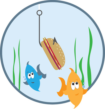 kelp: Enjoy the fishing adventures with this design by Embroidery patterns. Illustration