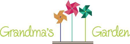 zomertuin: Pinwheels zijn geweldig voor de zomer tuin versieren! Maak een mooie plons van kleur aan uw tuin, bloemperken, en outdoor projecten met dit ontwerp.