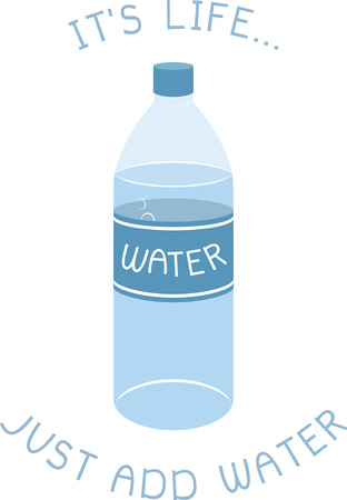 Water bottles are perfect for keeping liquids hot or cold, as you like it! Ilustração