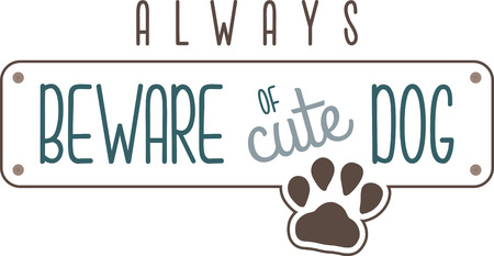 beware dog: This heartwarming sayings design will make a great keepsake for loved ones on framed embroidery, t-shirts, sweatshirts, towels and more.