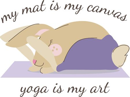 the yogi: This yoga rabbit would be perfect to add to your bag or towel for class.