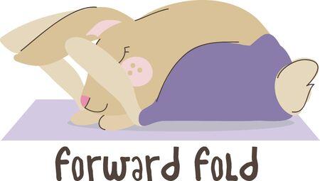 Deze yoga konijn zou perfect zijn om toe te voegen aan uw tas of handdoek voor klasse.