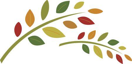 이 가을 잎을 부엌이나 욕실을위한 수건 세트로 사용하십시오. 일러스트