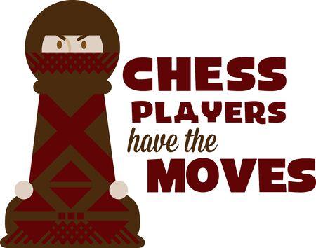 チェス プレーヤーが好きでこの楽しいゲーム ピース。  イラスト・ベクター素材