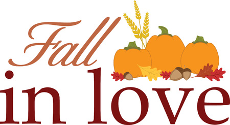 neighbor: Use these pumpkins on a seasonal linen napkin and matching apron for your neighbor.