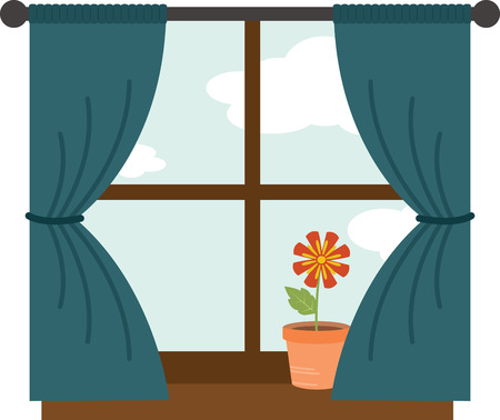 Decorate your home with a pretty flower in the window